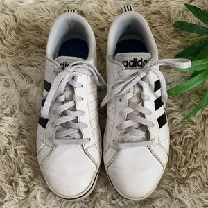 ADIDAS Neo white leather sneakers